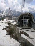 SkyWay przystanek w Valle d «Aosta zdjęcia stock