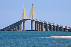 skyway solsken för bro Royaltyfri Fotografi