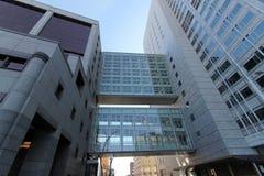 Skyways de varias capas en Mayo Clinic foto de archivo