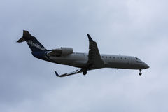 SkyWest Airlines jet on runway before takeoff Royalty Free Stock Photo