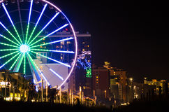 Skywheel在默特尔海滩 免版税图库摄影