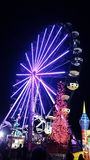 Skywheel with Christmas Lights Royalty Free Stock Photo