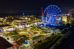 Free Skywheel Myrtle Beach SC At Night Long Exposure Stock Image - 156347141
