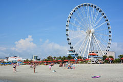 SkyWheel. MYRTLE BEACH SOUTH CAROLINA JUNE 29 2016: SkyWheel when it opened on 20 May 2011 it was the second-tallest extant Ferris wheel in North America, after Stock Photo