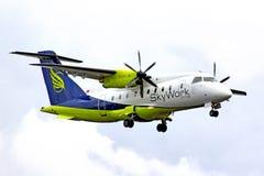 SkyWork-Fluglinien Dornier 328 Stockbild