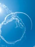 skywriting的飞机 库存图片