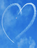 Skywriting heart Royalty Free Stock Images