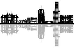 The skyyline of leeuwarden in Holland royalty free stock photos