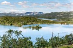 Sløddfjorden sjö, Norge Royaltyfria Bilder