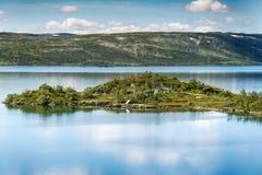 Sløddfjorden sjö, Norge Arkivfoto