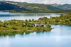 Sløddfjorden sjö, Norge Royaltyfria Foton