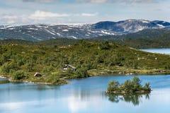 Sløddfjorden sjö, Norge Fotografering för Bildbyråer