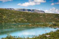 Sløddfjorden sjö, Norge Arkivbild