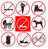 släcker burning odling för förbudbrigad tecknet för rusa för förbud för brandbrandmän det öppna till trä Arkivfoton