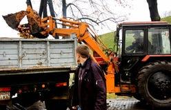 Släckta stearinljus för traktor päfyllning Fotografering för Bildbyråer