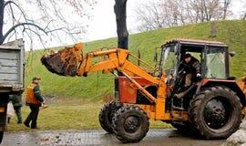 Släckta stearinljus för traktor päfyllning Arkivfoton
