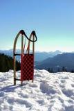 Släde i snö Royaltyfri Foto