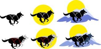 slädehundkapplöpning Royaltyfri Illustrationer