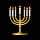 Släkta Hanukkah och all saker stock illustrationer