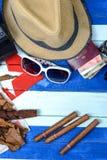 Släkta objekt för kubanska cigarrer Fotografering för Bildbyråer