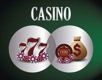 Släkta symboler för kasino stock illustrationer