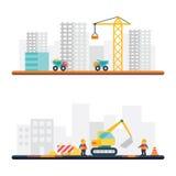 Släkta symboler och illustrationer för konstruktion Royaltyfria Bilder