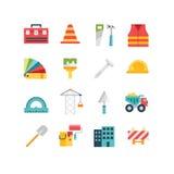Släkta symboler och illustrationer för konstruktion Royaltyfri Fotografi