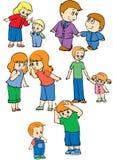 släktingar Stock Illustrationer