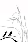 sländor silhouette vektor två Royaltyfri Foto