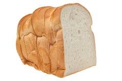 Släntra av bröd som isoleras på vit bakgrund Royaltyfri Fotografi