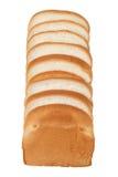 Släntra av bröd som isoleras på vit bakgrund Royaltyfri Foto