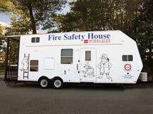 Släp för hus för brandsäkerhet Arkivfoton