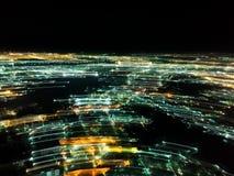 Släpa ljusen i staden, resultatet är abstrakt ljus Royaltyfri Foto
