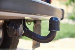Släpvagnskoppling på en bil arkivfoton