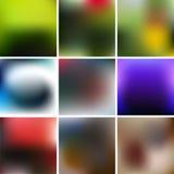 Slät abstrakt färgrik bakgrundsuppsättning - eps10 Fotografering för Bildbyråer
