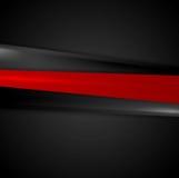 Slät bandbakgrund för abstrakt röd svart stock illustrationer