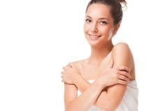 Slät brunettskönhet Royaltyfria Bilder