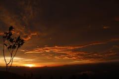 Slät solnedgång Fotografering för Bildbyråer