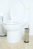 slät toalett Arkivfoto
