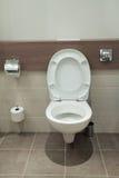 slät toalett arkivbild