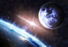 slät yttersida för abstrakt planet för jordjordningsbild Arkivfoto