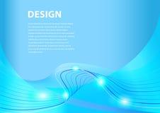 Släta blå vektorbakgrund Stock Illustrationer