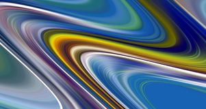 Släta blåa vågformer för abstrakt begrepp, abstrakt bakgrund för kontrast fotografering för bildbyråer