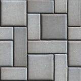 Släta Gray Paving Slabs som av rektanglar och Royaltyfria Foton