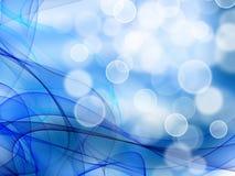 Släta vågor från signaler av blått Royaltyfria Foton