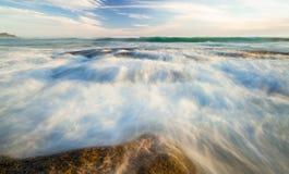 Slätt havlandskap Royaltyfri Bild