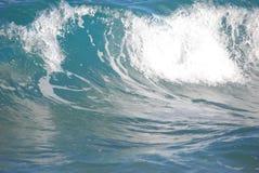 Slätt krascha för aquavåg Royaltyfri Fotografi