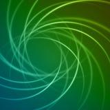 Slätt ljus - blåa linjer vektorabstrakt begreppbacground för gröna vågor Arkivbild