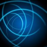 Slätt ljus - blått vinkar linjer abstrakt begreppbakgrund Fotografering för Bildbyråer