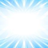 Slätt ljus för abstrakt begrepp - blå perspektivbakgrund. Royaltyfria Bilder